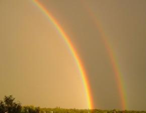 gold, rainbow, sky