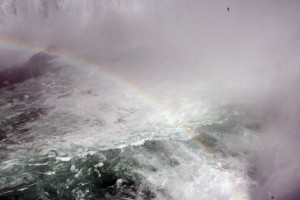 niagara, waterfalls, rainbow