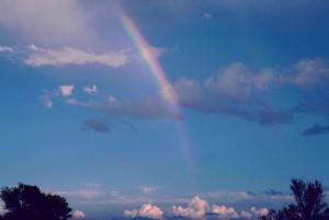 arc en ciel, scénique, ciel