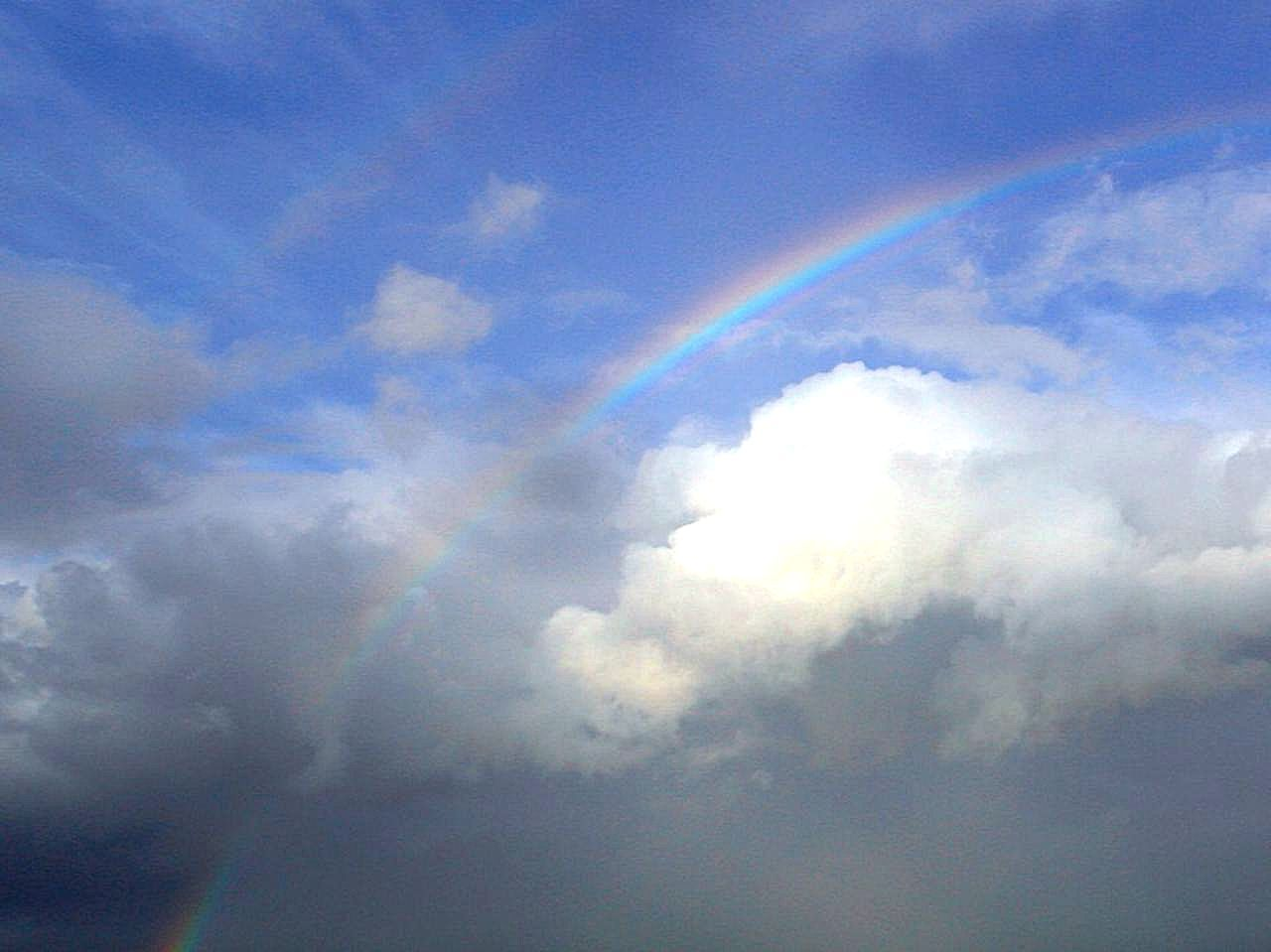 Free picture: rainbows, couds, sky