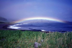 seguam, island, rainbow, lava, point