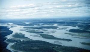 aerial, Yukon, river