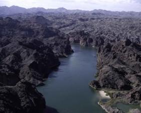 along, banks, Colorado, river, scenic, landscape, view