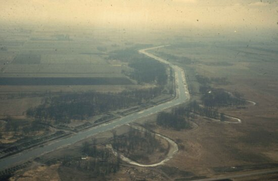 aerial, stream, channelization, south