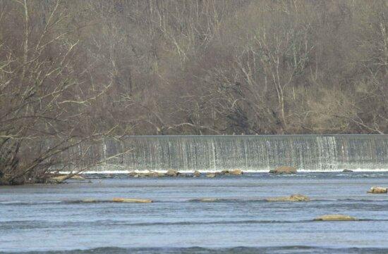 artificial, dam, river