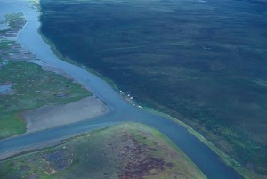 big, river, aerial perspective