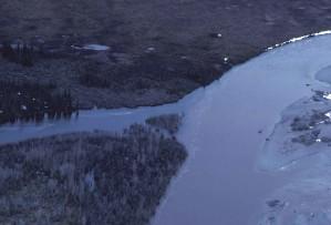 coleen, rivière, la perspective aérienne