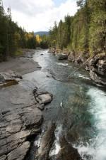 flathead, rivière, montagne, rivière