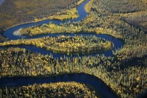 great, river, landscape, scenics