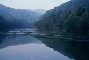 greenbriar, rivière, à l'ouest, en Virginie