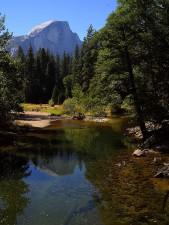 dôme, Yosemite, rivière