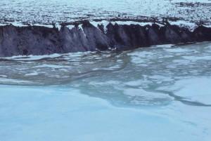glace, rivière, scénique