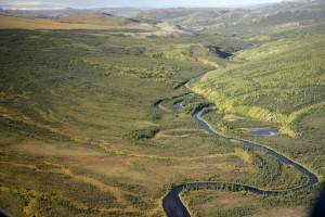 kanuti, rivière, à l'est, frontière, Kanuti, désert, refuge