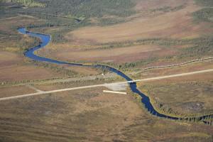 kanuti, rivière, Dalton, autoroute, trans, Alaska, pipeline