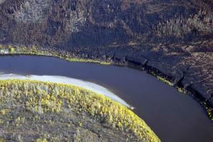Kanuti, rivière, septembre, automne, rivière, scenics