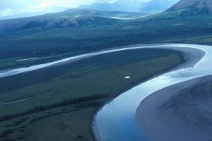 lower, Noatak, river, summer, aerial perspective