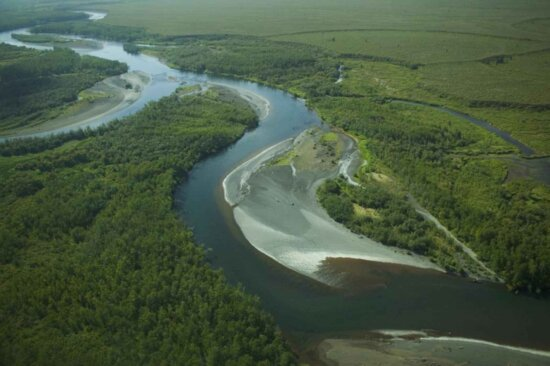 meander, river, aerial, photography