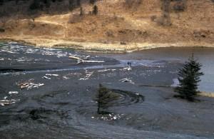 pillar, river, gravel, site, Kodiak