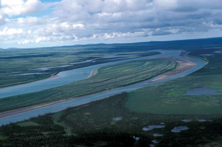 floden, flats, landskap
