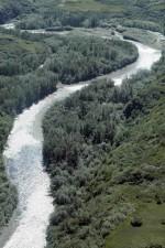 río, cielo