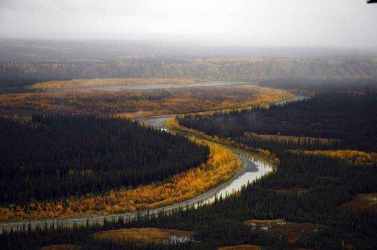 river, landscape, fall