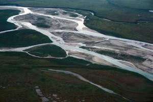 rivière, paysage, milieu, section