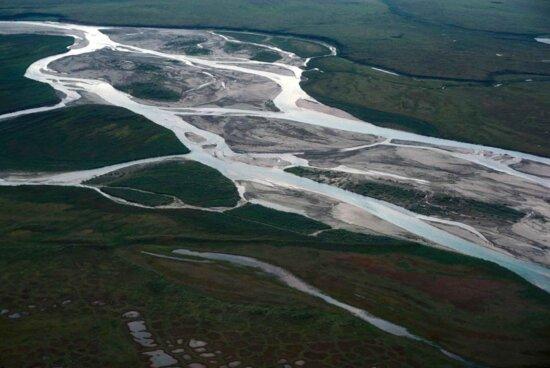 river, landscape, middle, section