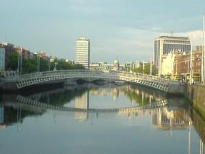 Fluss, Liffey, Dublin, Stadt, Zentrum