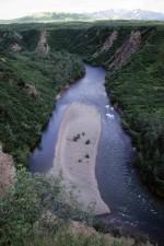 fiume, banco di sabbia