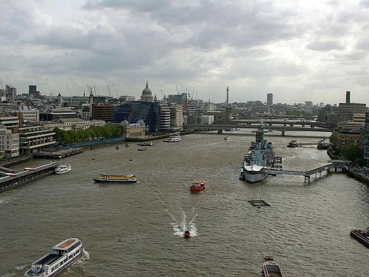 Fluss, Themse, London, England
