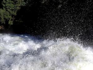 río, espuma, rápidos, salpicaduras