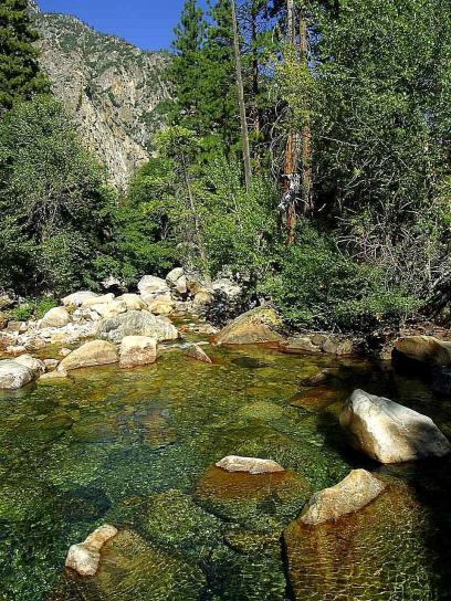Roaring, rivier, stromen, watervallen, bergen