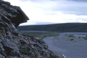 rock, outcropping, Noatak, river