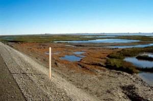 grus, veien, skråningen, olje, felt, bakgrunn