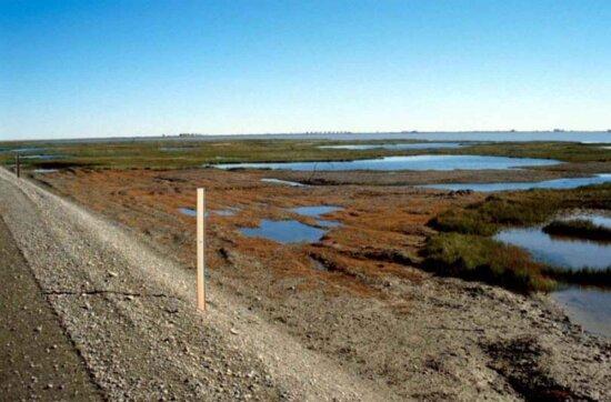 gravel, road, slope, oil, fields, background