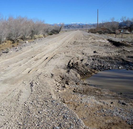 heavy, rains, road, washed, flooding