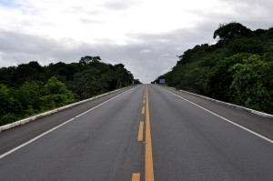 autoroute, route, plein, pointillé, ligne