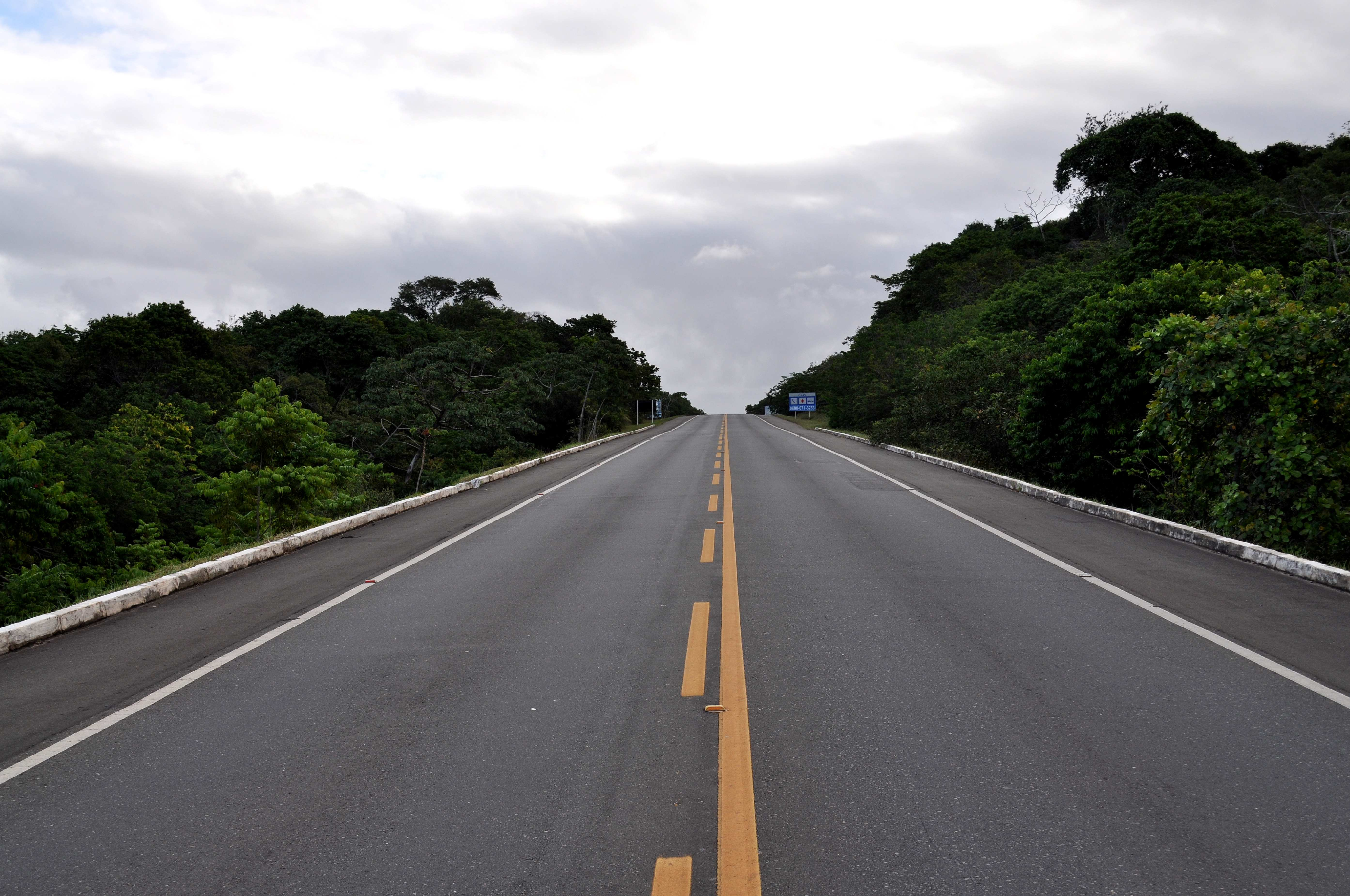 Free photograph; highway, road, full, dotted, line