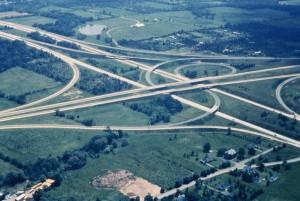 autoroutes, routes, aérien, photographie