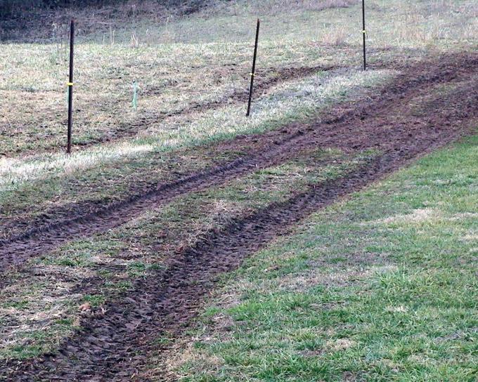 muddy, farm, road