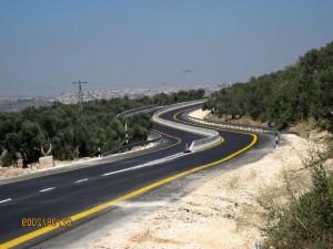 un, plusieurs, routes, à l'ouest, banque, Gaza