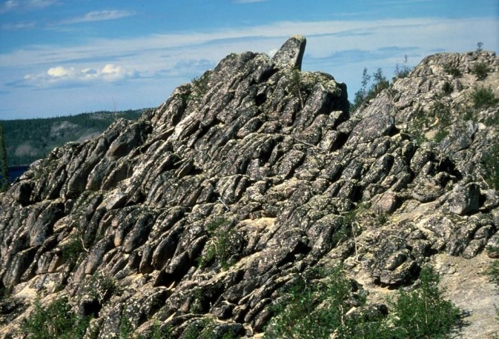 basalt, rock, formation, bettles
