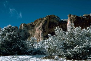 naturali, aree, morro, roccia, formazione