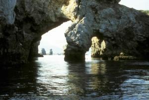 ポルタヴァ、島、アーチ、水、石、形成