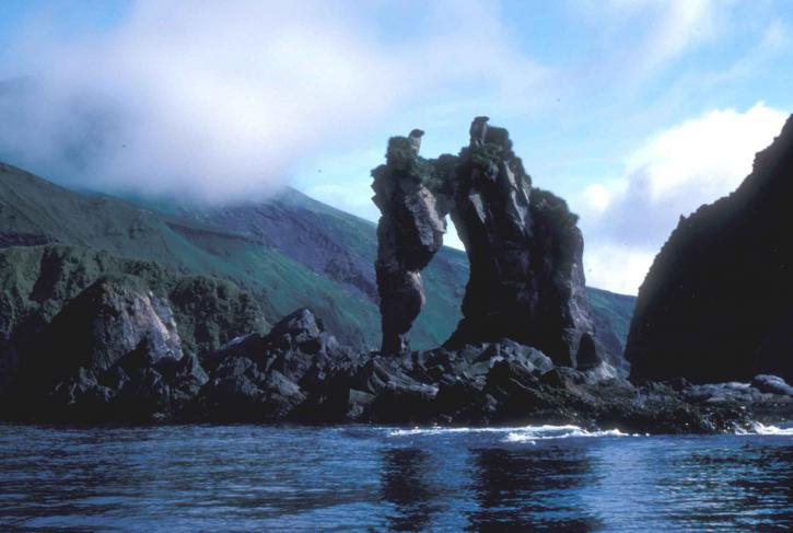 セグアム、島、タツノオトシゴ、岩、形成、水