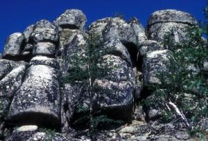 basalt, columns, stone, formation