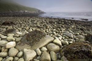 big, stones, beach
