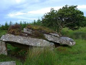 irlande, tombes, vert, colline