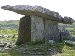 paulnabrone, tombes, dolmens, Burren, roches