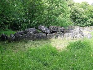 rocas, tumbas, paso, lago